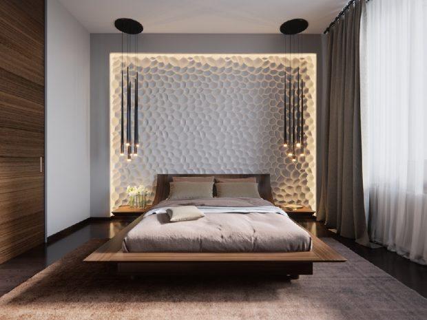 nowoczesne oświetlenie łóżka