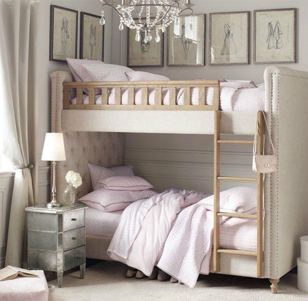 piętrowe łóżko dziewczynek