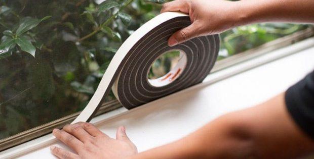 uszczelnianie okien gąbka