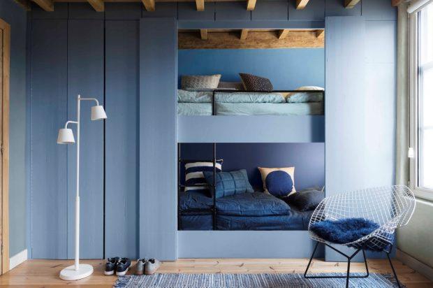 kolor niebieski we wnętrzach