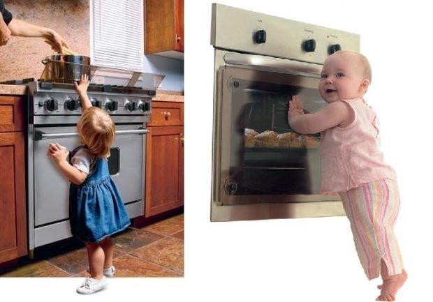 niebezpieczna kuchenka dla dziecka