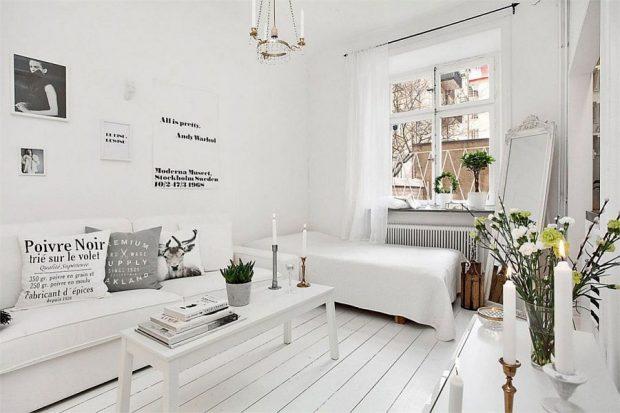 białe deski na podłodze