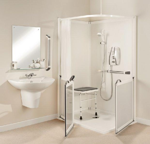 łazienka dla niepełnosprawnych osób