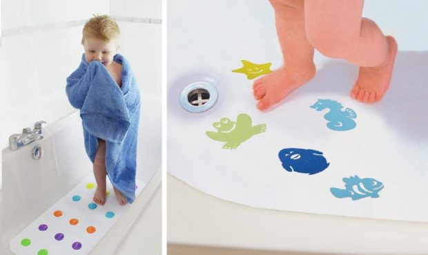 śliska podłoga w łazience bezpieczne dziecko