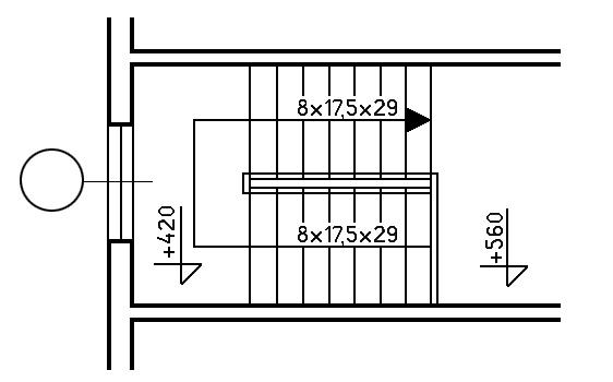 projekt schodów wewnętrznych