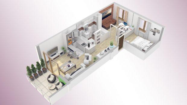 plany rzuty mieszkania