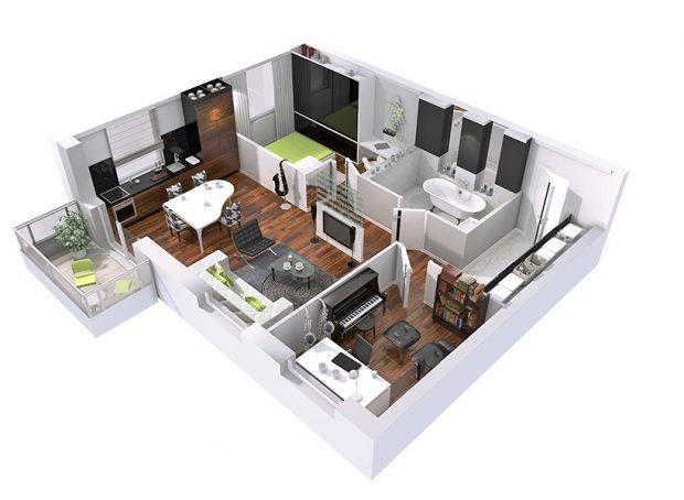 rzut mieszkania projekt wnętrza