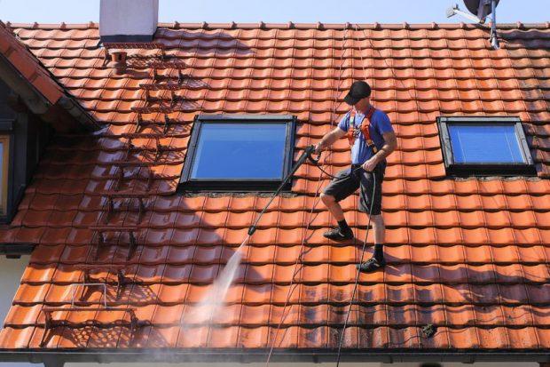 myjka ciśnieniowa mycie dachu
