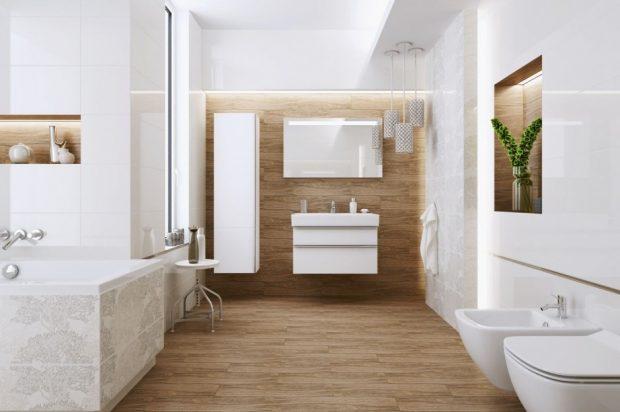 jakie drewno w łazience