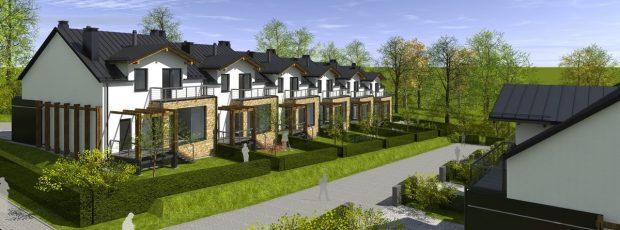 osiedle domków w zabudowie szeregowej