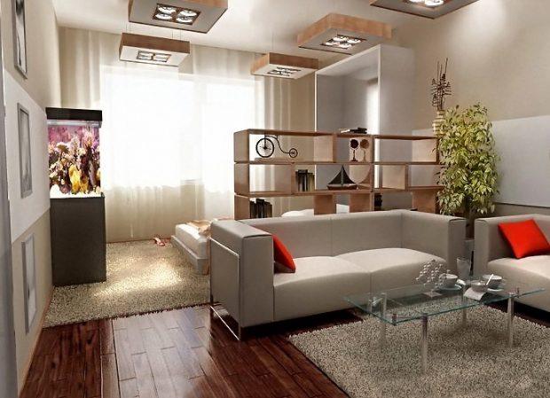 jak podzielić pomieszczenia na sypialnię i salon