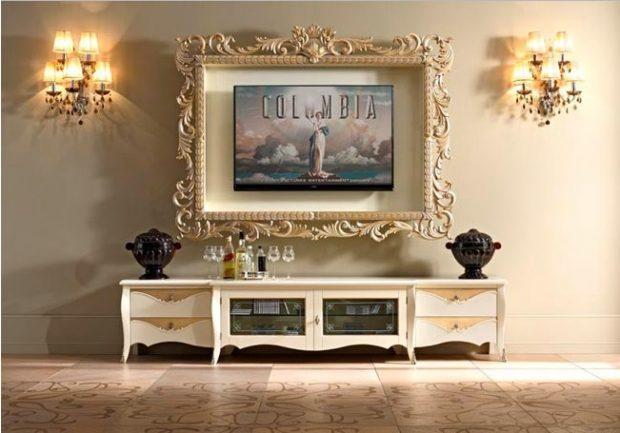 telewizora w ramie jak obraz na ścianie