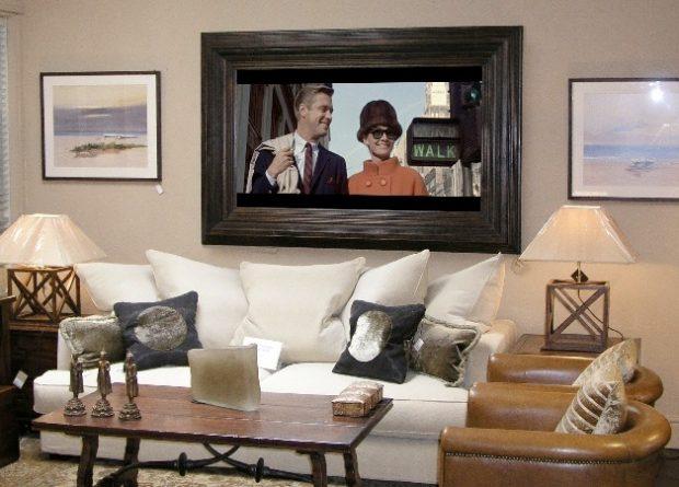 telewizora w drewnianej starej ramie