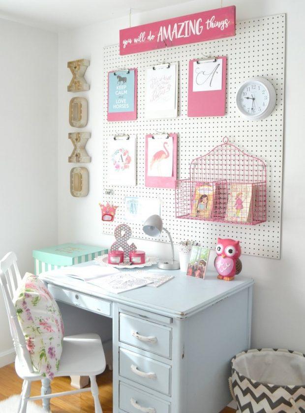 pokój dziewczynki biurko
