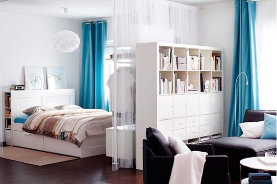 podzielona sypialnia