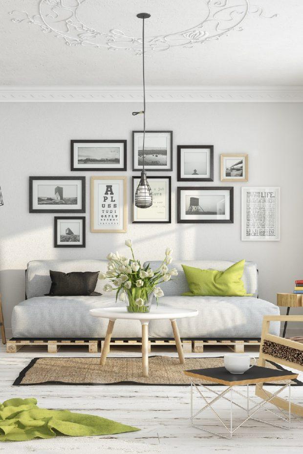 styl japoński minimalistyczny futon sofa