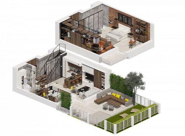 piętrowe mieszkanie