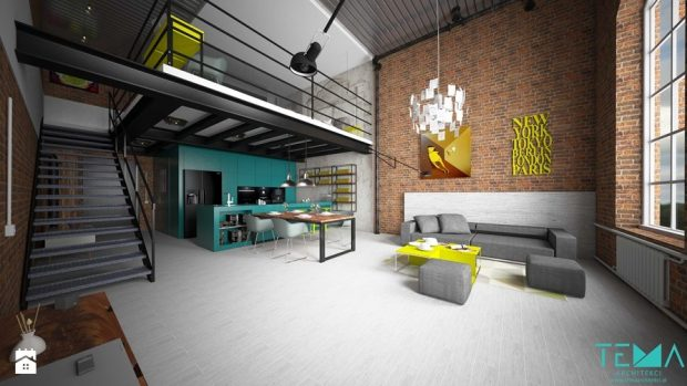 mieszkanie loft antresola