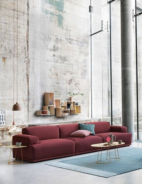 wnętrza loftowe minimalizm a kolory