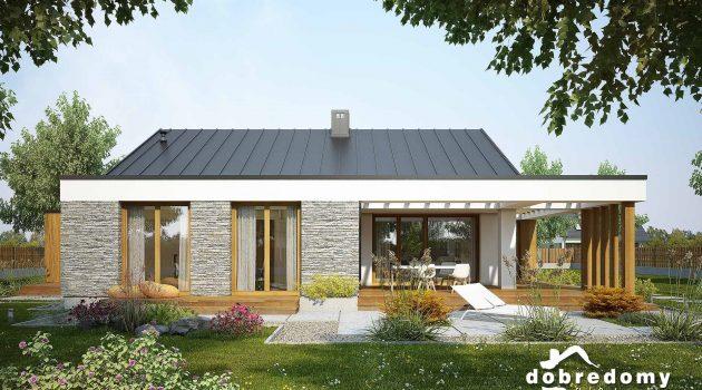nowoczesny projekt domu jednoirodzinnego