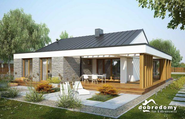 projekt domu jednorodzinnego roza