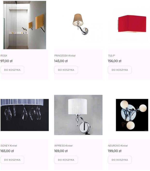 kinkiety nowoczesne lampy