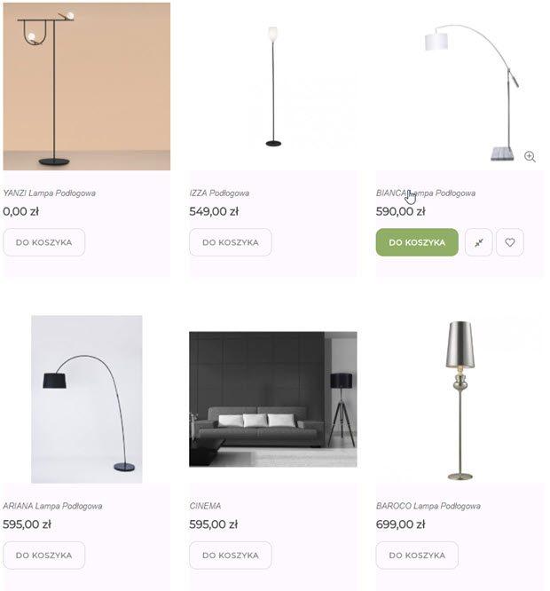 lampy podłogowe stojaki