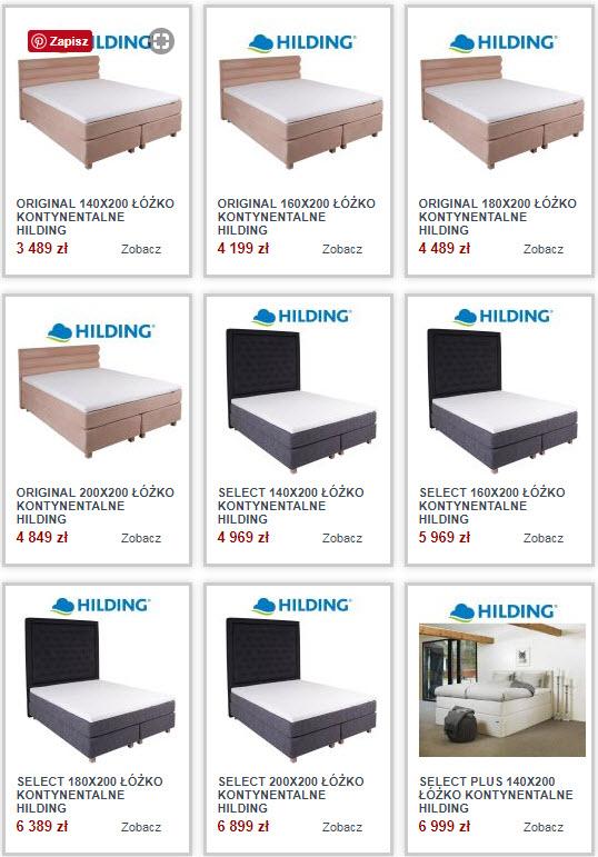łóżka kontynentalne hilding