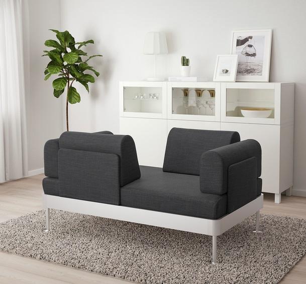 sofa do poczekalni z oparciem po dwóch stronach