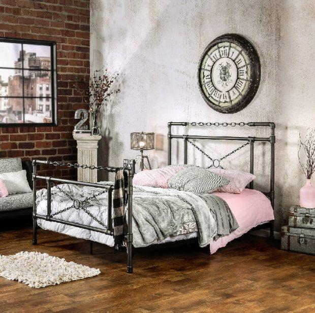 kute metalowe łóżko lofty