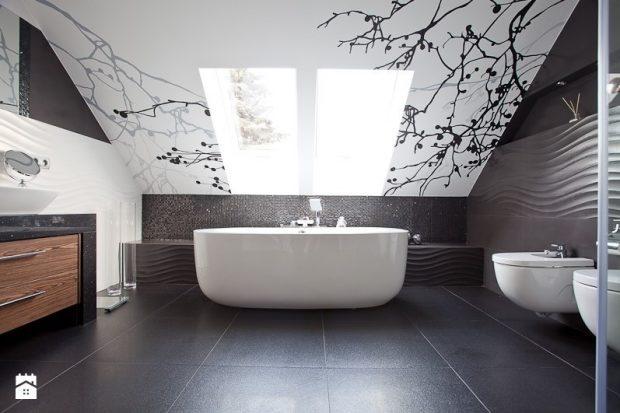 łazienka sufit wzory
