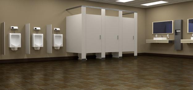 łazienka w biurowcu