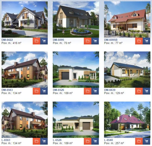 projekty domów bliźniaków