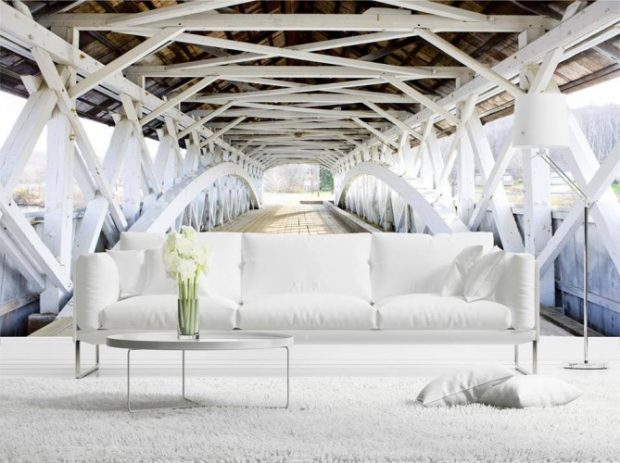 Fototapeta z mostem przedłuży twój salon