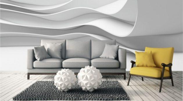 Fototapeta 3D do nowoczesnego salonu