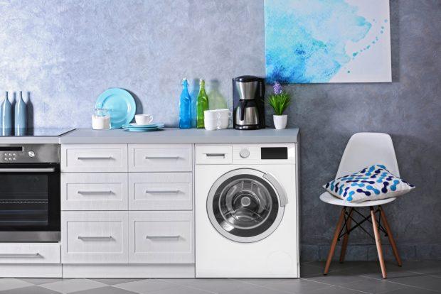 instalacja pralki w kuchni