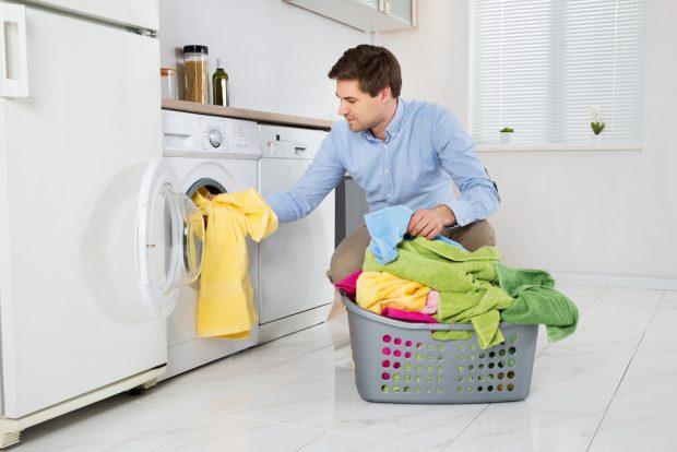 pranie w kuchni