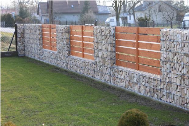 solidne ogrodzenie gabionowe