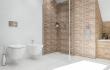 ścianka prysznicowa z cegły