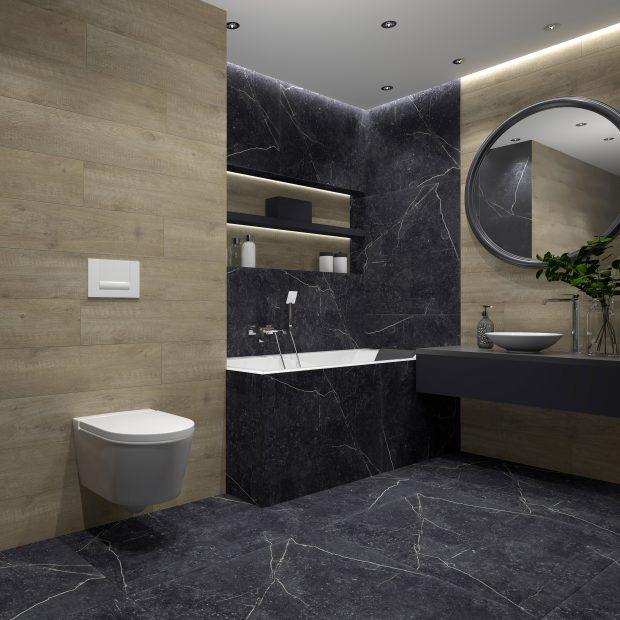 Aranżacja marmurowej łazienki