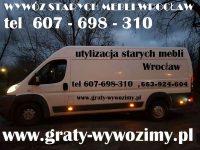 Wywóz starych mebli Wrocław,opróżnianie mieszkań,piwnic